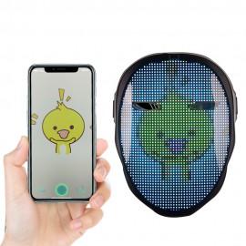 WG Creepy Mask, led-маска  с экраном и сменными анимированными заставками через приложение на смартфоне
